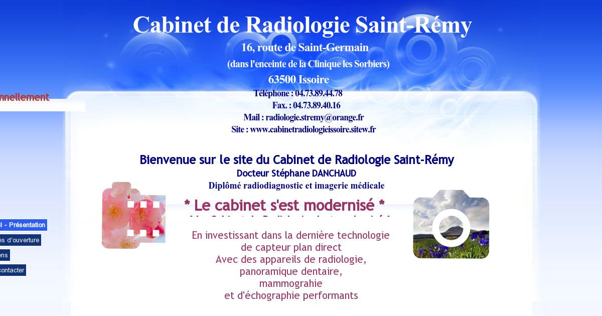 Cabinetradiologieissoire accueil pr sentation - Cabinet radiologie belleville sur saone ...